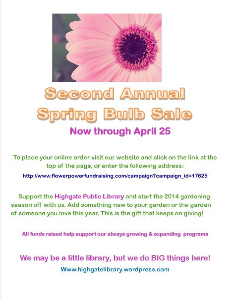 Click on the bulb sale information to be taken directly to our online Flower Power Fundraising site!