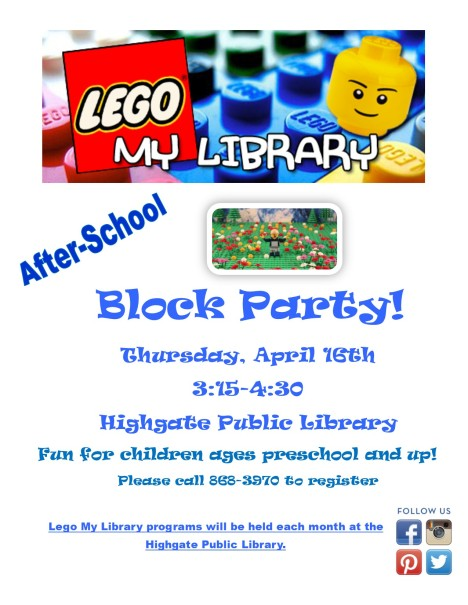 Lego my libraryapril
