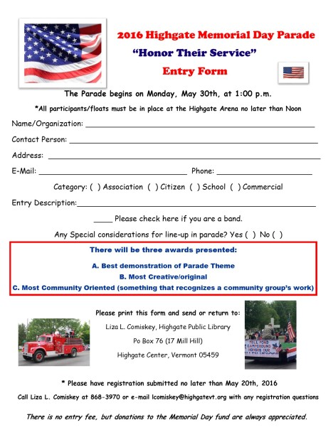 registration form 2016 parade