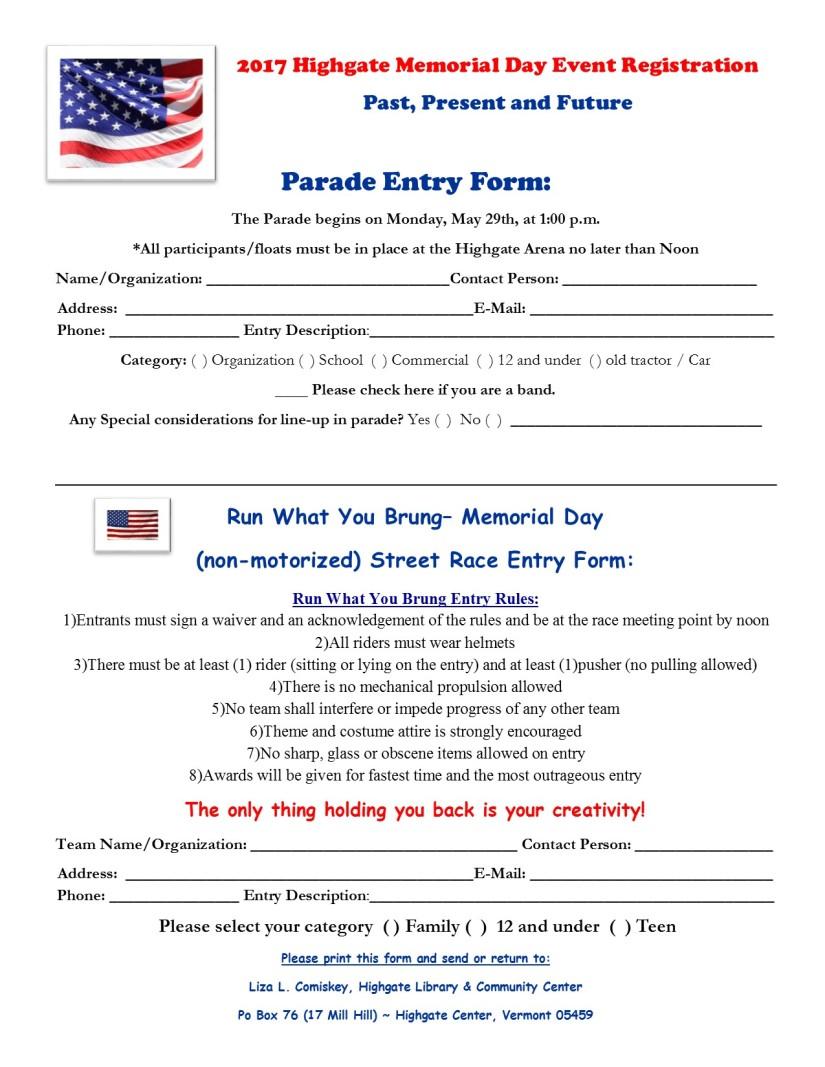 registration form 2017 parade