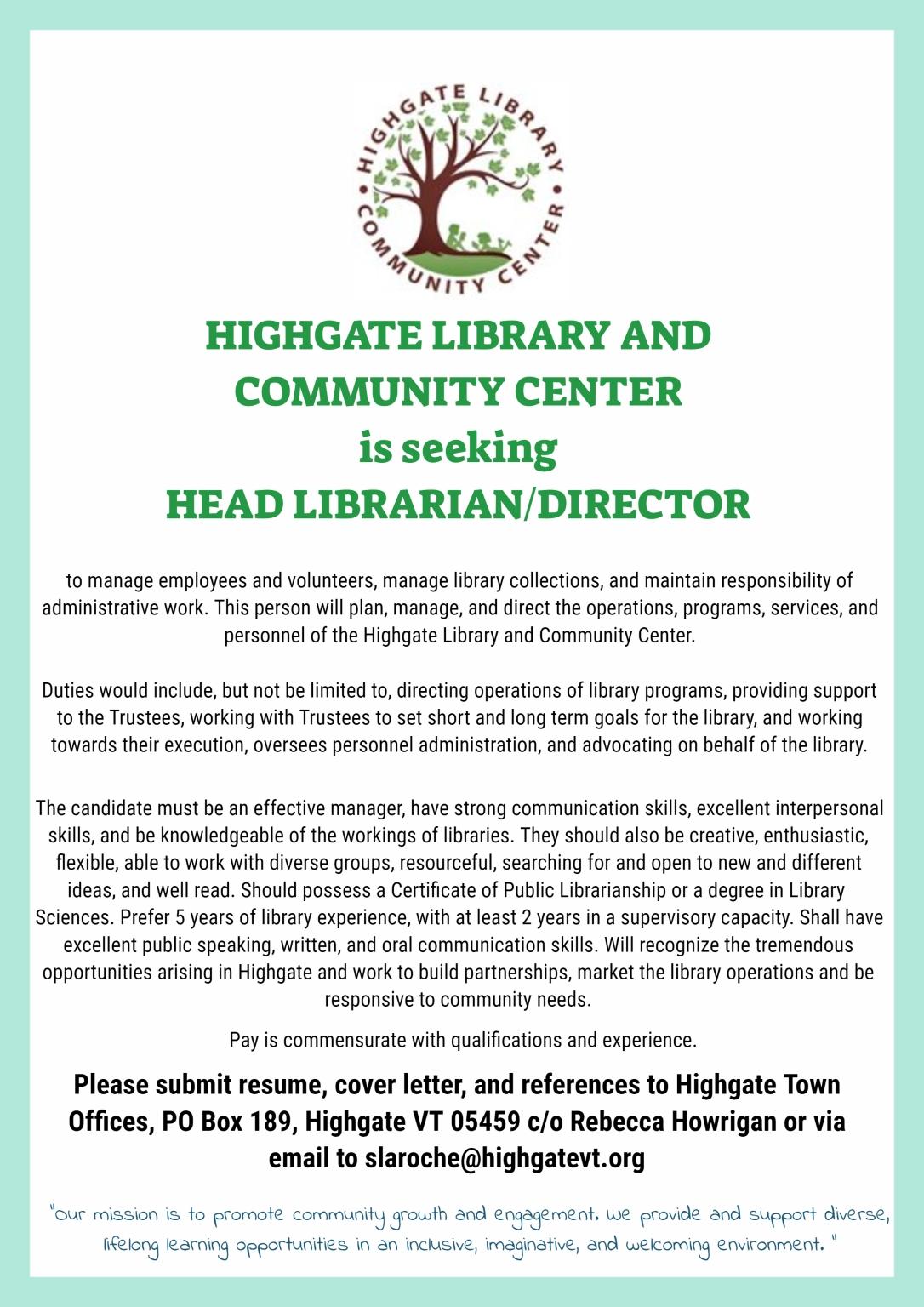 head librarian job FotoJet