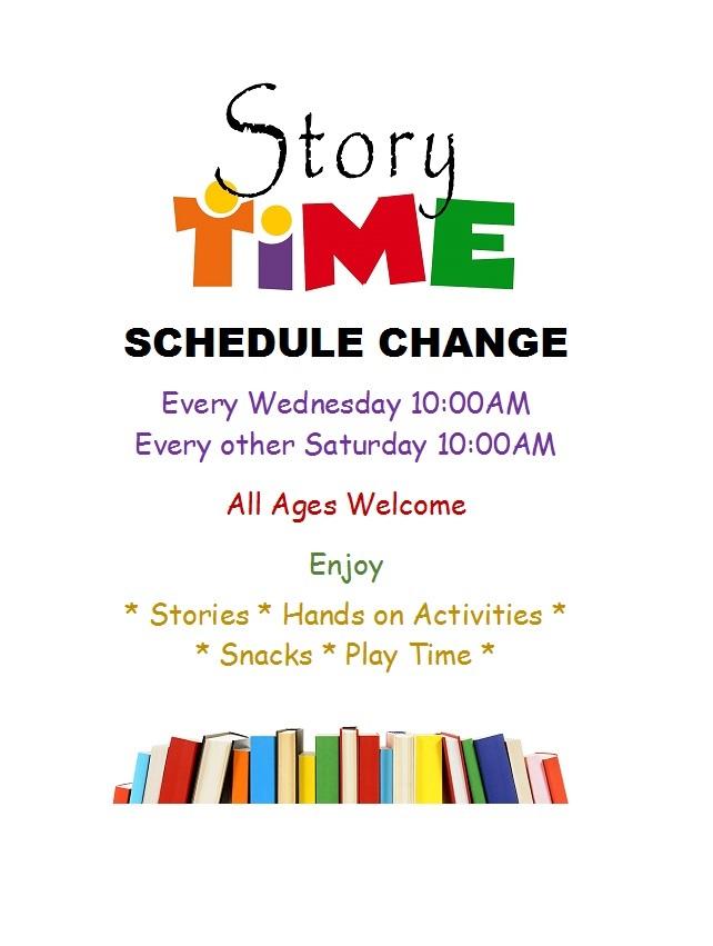 storytime schedule change