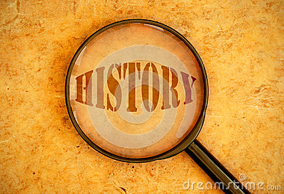 history-magnifying-glass-focused-word-36388781
