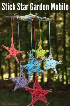 stick star garden mobile